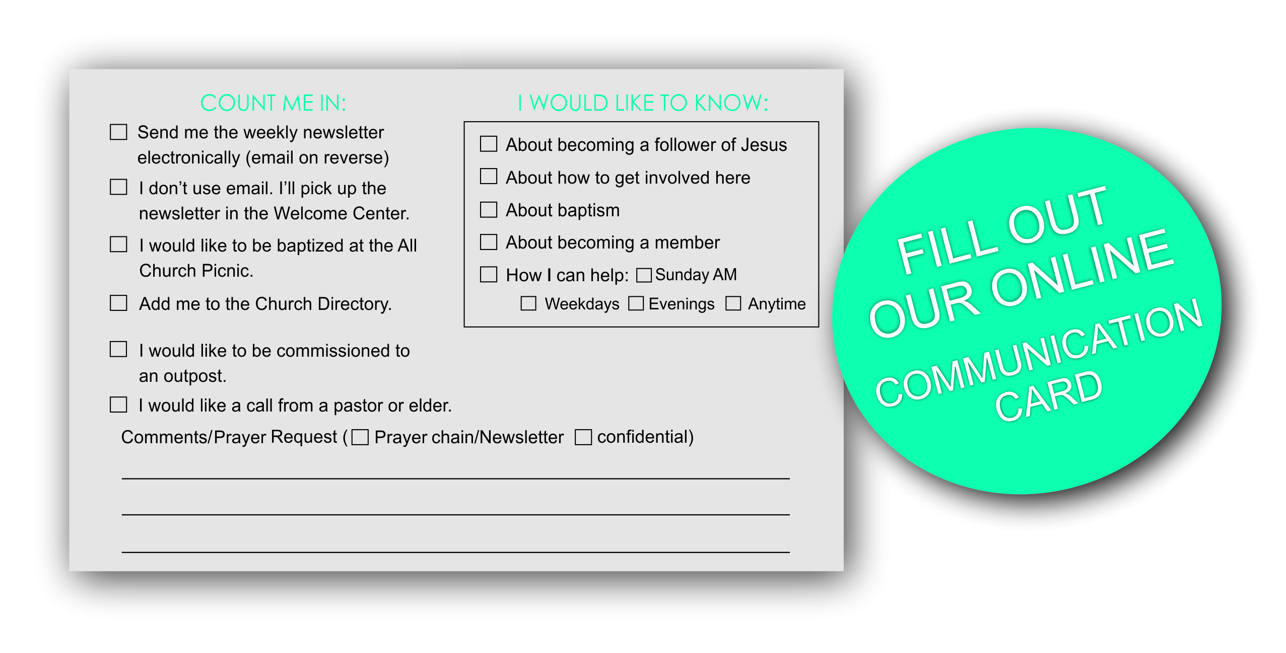 communication card graphic